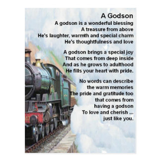 Train     Godson  Poem Postcard