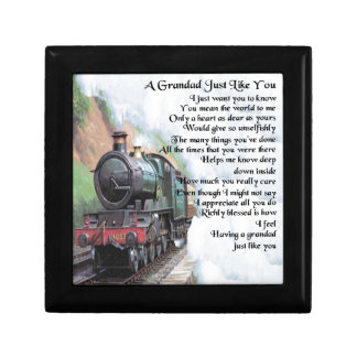 Train - Grandad Poem Gift Box