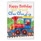 Train Happy Birthday photo greeting card