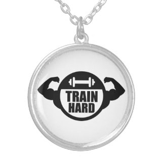 Train hard barbell muscles jewelry
