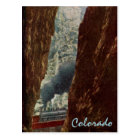 Train in Royal Gorge Crevice Postcard