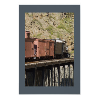 Train in the Canyon Poster