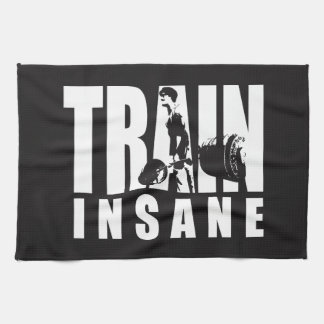 TRAIN INSANE - Deadlift - Gym Workout Motivational Tea Towel