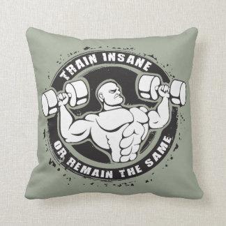 Train Insane Or Remain The Same - Bodybuilding Cushion