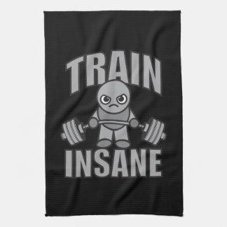 TRAIN INSANE - Workout Cartoon Anime Motivational Towel