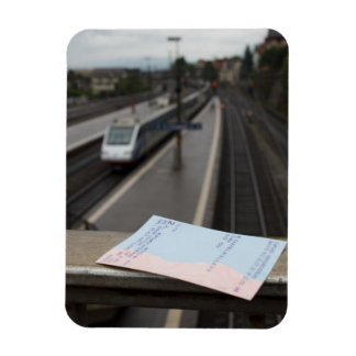 Train Journey Rectangular Magnets