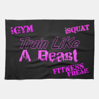 "Train Like A Beast Ladies Gym Towel 16"" x 24"""
