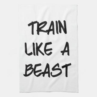 Train Like a Beast Motivational Workout Gym Hand Towel