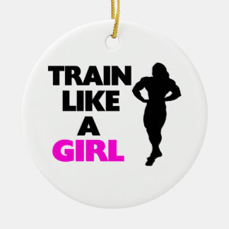 Train Like A Girl Christmas Ornament