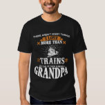 Train Loving Grandpa Tee Shirt