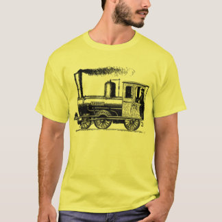 train modern vintage tshirt