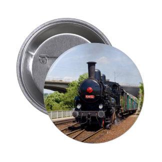 Train moving to goal and success Praha Braník trai Pinback Button