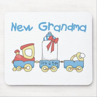 Train New Grandma It's a Boy Mouse Pad