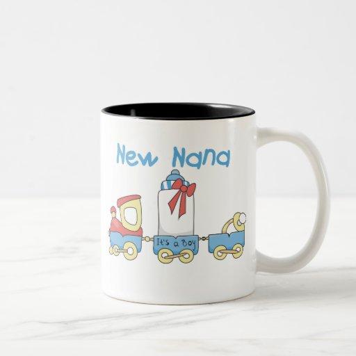 Train New Nana It's a Boy Coffee Mug