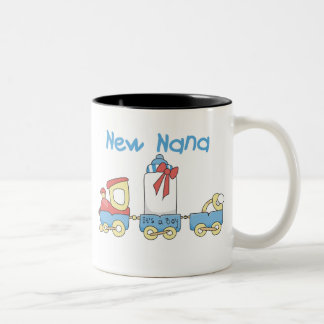 Train New Nana It's a Boy Two-Tone Coffee Mug