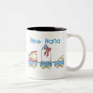 Train New Nana It's a Boy Two-Tone Mug