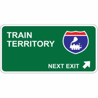 Train Next Exit Photo Sculpture Decoration