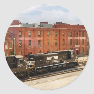 Train - Now Arriving in Roanoke Virginia Round Stickers