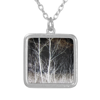 Train of Thought Black White Forest Landscape Pendants
