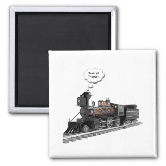 Train of Thought Square Magnet