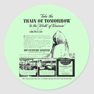 Train Of Tomorrow - New York Central Railroad Classic Round Sticker