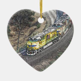 Train on the Tehachapi Loop Christmas Ornament