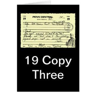 Train Order - 19 Copy Three Greeting Card