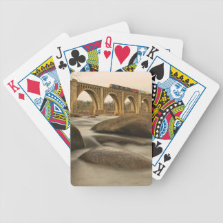 Train over James River Bicycle Playing Cards