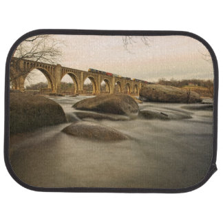 Train over James River Car Mat