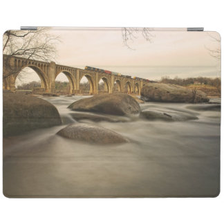 Train over James River iPad Cover