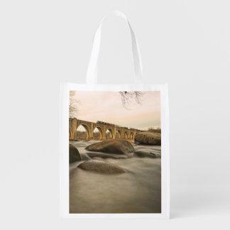 Train over James River Reusable Grocery Bag
