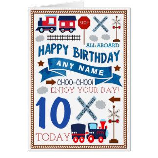 Train Personalised Birthday Card