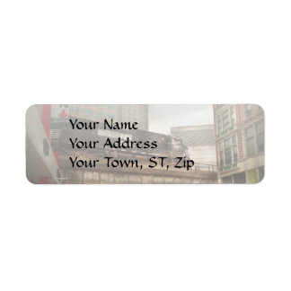 Train - Pittsburg Pa - The industrial city Return Address Label