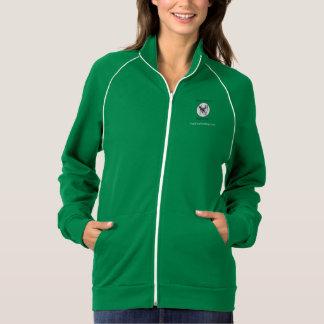 Train Positive Dog! track jacket (womens)