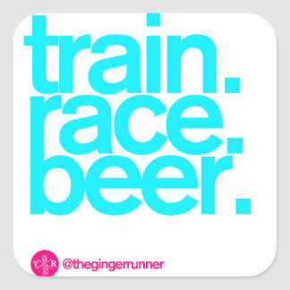 "TRAIN.RACE.BEER. 3"" Stickers"