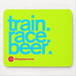 TRAIN.RACE.BEER. Mousepad