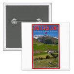 Train Ride through the Swiss Alps 15 Cm Square Badge