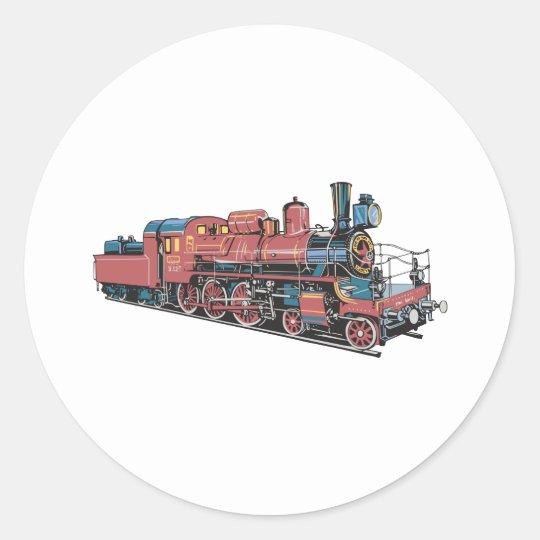 Train Round Sticker