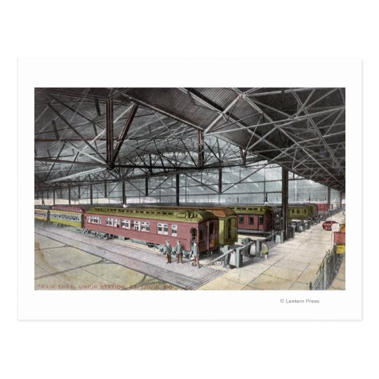 Train Shed at Union Station Postcard