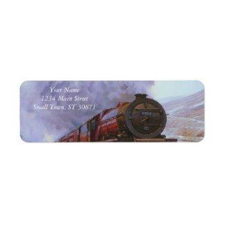 Train Snow Winter Painting  Smoke Return Address Label