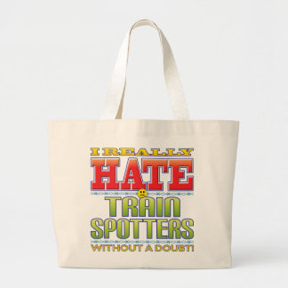 Train Spotters Hate Face Tote Bag