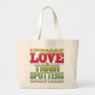 Train Spotters Love Face Tote Bag