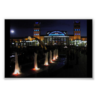 Train Station By Night Poster