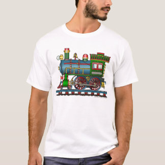 Train Steam Engine Choo Choo Apparel T-Shirt