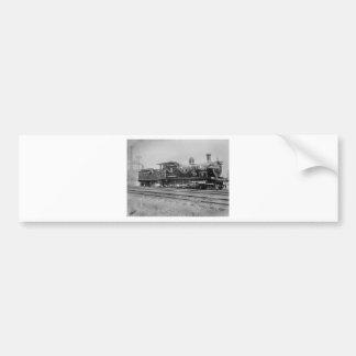 train steam locomotive engine old railway railroad bumper sticker