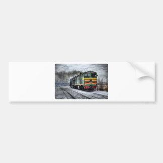 Train Steam Railroad Steampunk Engine Destiny Bumper Sticker