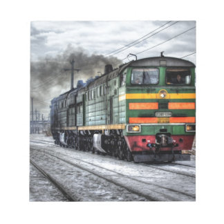 Train Steam Railroad Steampunk Engine Destiny Notepad