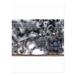 Train Steam Railroad Steampunk Engine Destiny Post Cards