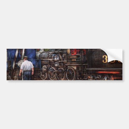 Train - Steam - The conductors job Bumper Stickers