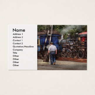 Train - Steam - The conductors job Business Card